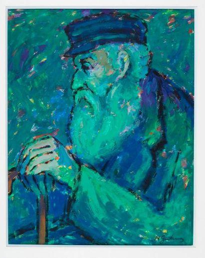 Nathan Gutman (1914-1990) Portrait de vieil...