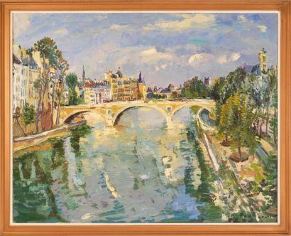 Micheline MASSE (1932-2017) Le Pont Neuf...