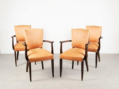 Ensemble de 4 fauteuils bridge et une table...