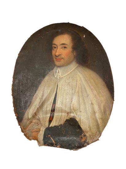Ecole Française vers 1720 Portrait d'un ecclésiastique...