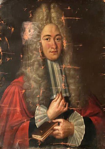 Ecole Française vers 1720 Portrait d'un magistrat...