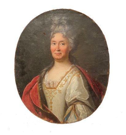 Ecole Française vers 1720 Portrait d'une...