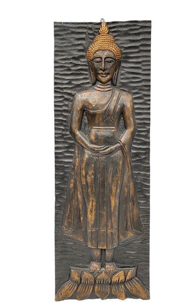Panneau moderne en bois sculpté représentant...