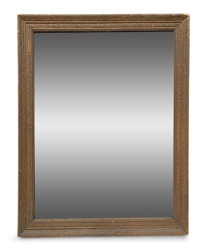 Miroir rectangulaire en bois doré H_96 cm...