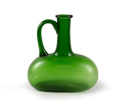 Carafe Verre vert H_34 cm L_32 cm P_12 c...