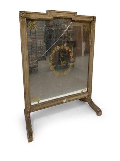 Miroir sur pied de style Louis XVI (accidenté...