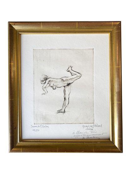 La danseuse Estampe gravée par G. Helsaud,...