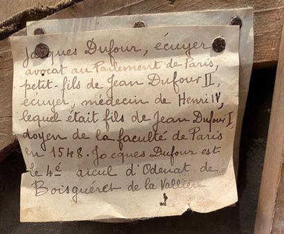 Ecole Française de la fin du XVIIe siècle Portrait de Jacques Dufour, écuyer avocat...