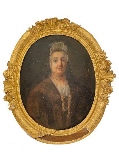 Ecole Française vers 1700 Portrait de femme...