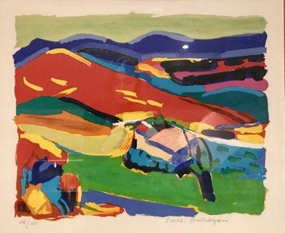 PIERRE AMBROGIANI (1907-1985) Vue de la montagne...