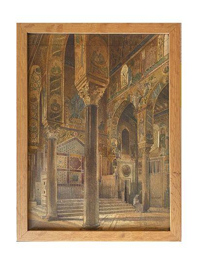 Ecole Française, 1856 Vue de l'intérieure...