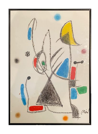 Joan Miro (1893-1983) Composition Lithographie...