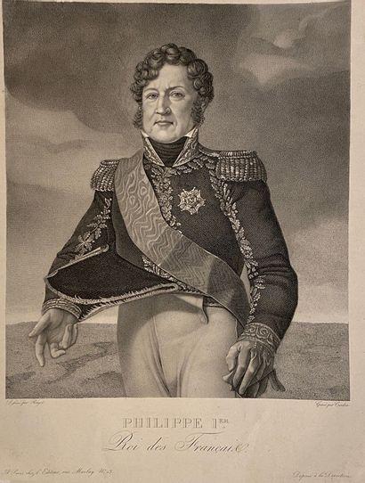 Philippe Ier Roi de France Estampe sur papier...