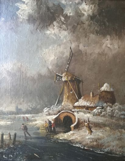 Dans le goût de Johan Barthold Jongkind Moulin...