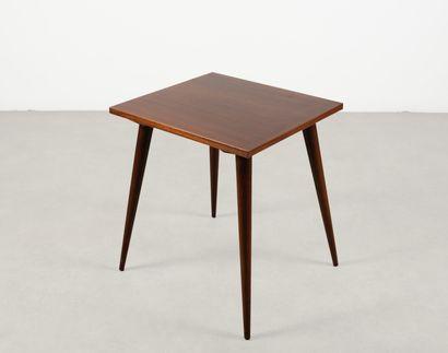 Table d'appoint rectangulaire en acajou Vers...