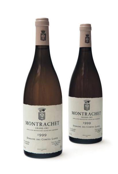 2 Bouteilles de Montrachet Grand Cru Domaine des Comtes Lafon 1999