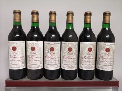 6 bouteilles CLOS les RELIGIEUSES - Puisseguin...