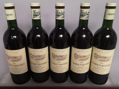 5 bouteilles Château CABANNIEUX - Graves...