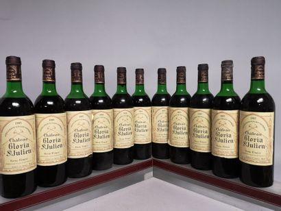 11 bouteilles Château GLORIA - St. Julien...