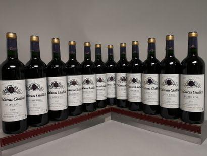 12 bouteilles Château GUILLOT - Pomerol 2005...