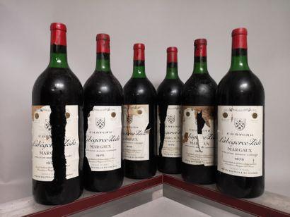 6 magnums Château LABEGORCE ZEDE - Margaux...