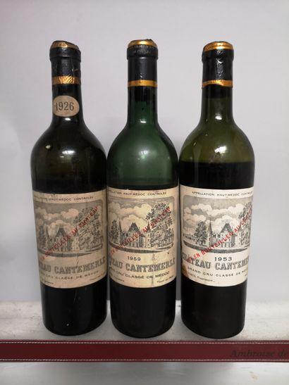 3 bouteilles Château CANTEMERLE - 5e Gcc...