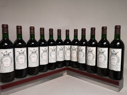 12 bouteilles Château MARQUIS d'ALESME BECKER...