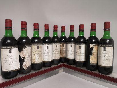10 bouteilles Château LA MONGIE - Bordeaux...