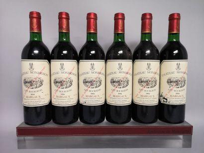 6 bouteilles Château MONBRISON - Margaux...