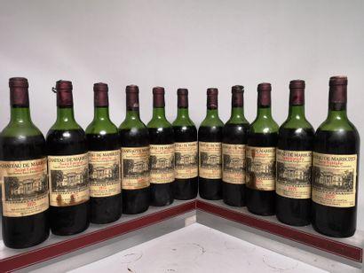 11 bouteilles Château de MARBUZET - Saint...