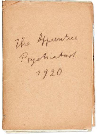 JULIEN GREEN THE APPRENTICE PSYCHIATRIST Très rare manuscrit autographe signé de...