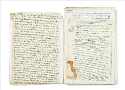 JULIEN GREEN L'APPRENTI PSYCHIATRE ET AUTRES HISTOIRES DE VERTIGE Manuscrit d'environ...