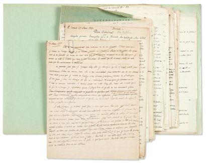 JULIEN GREEN MONT-CINÈRE Manuscrit autographe, environ 120 pages, la plupart in-4,...