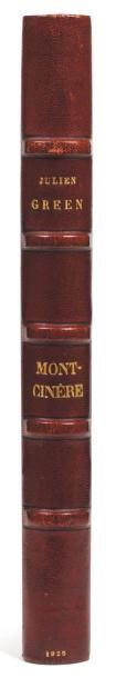 JULIEN GREEN MONT-CINÈRE Manuscrit autographe signé, 202 pages in-4 montées sur onglets....