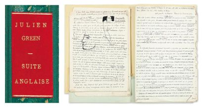 JULIEN GREEN SUITE ANGLAISE Réunion de manuscrits, une centaine de pages (formats...