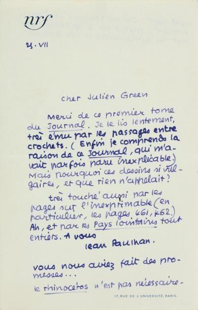 PAULHAN Jean (1884-1968)