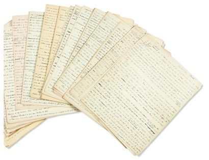 JULIEN GREEN VAROUNA Manuscrit autographe d'environ 210 pages in-4 + 9 pages tapuscrites,...