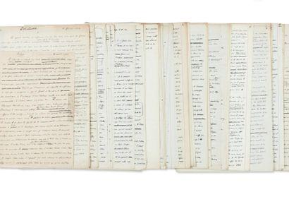 JULIEN GREEN SI J'ÉTAIS VOUS Manuscrit autographe, environ 250 pages in-folio conservées...
