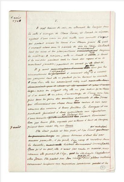 JULIEN GREEN MOÏRA Manuscrit autographe d'environ 200 pages in-folio conservées dans...