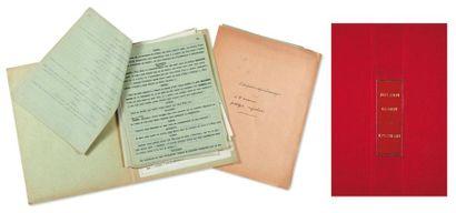 JULIEN GREEN L'ENNEMI Texte dactylographié par J. G., une centaine de pages in-4...