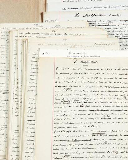 JULIEN GREEN LE MALFAITEUR Manuscrit autographe, environ 225 pages in-folio réunies...
