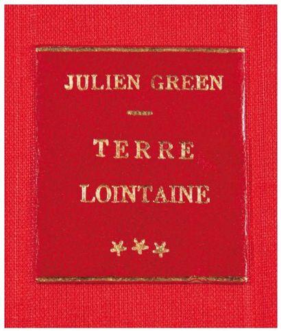 JULIEN GREEN TERRE LOINTAINE Tapuscrit original complet, composé et dactylographié...