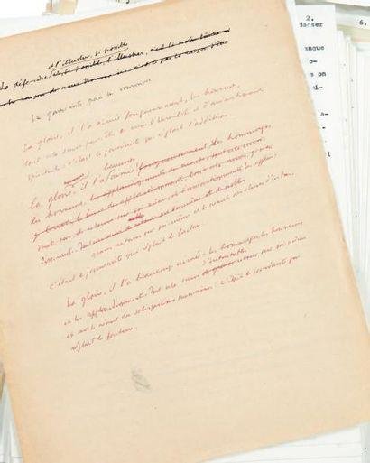JULIEN GREEN QUI SOMMES NOUS? Manuscrit autographe d'environ 80 pages + 150 autres...