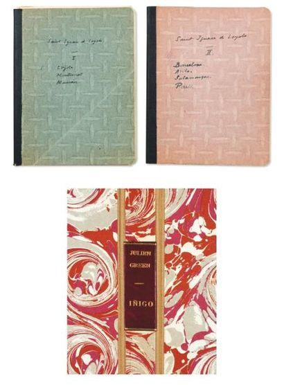 JULIEN GREEN IÑIGO Manuscrit autographe de plus de 130 pages in-4, signé deux fois,...