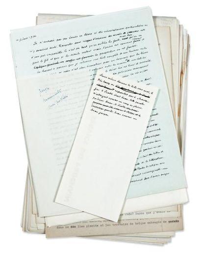 JULIEN GREEN JEUNESSE Manuscrit dactylographié par Green, environ 215 pages in-4...