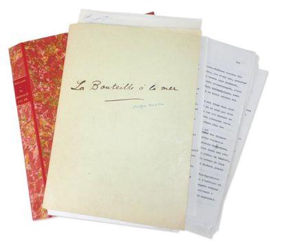 JULIEN GREEN LA BOUTEILLE À LA MER Tapuscrit signé avec corrections et ajouts autographes...