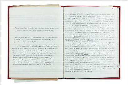 JULIEN GREEN CE QU'IL FAUT D'AMOUR À L'HOMME... Manuscrit autographe de près de 100...