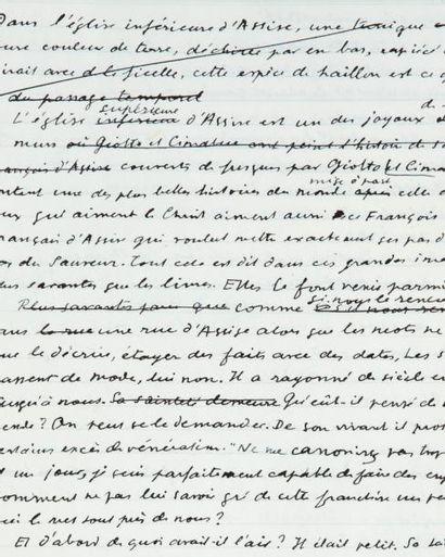 JULIEN GREEN FRÈRE FRANÇOIS Trois gros cahiers autographes conservés dans deux chemises...