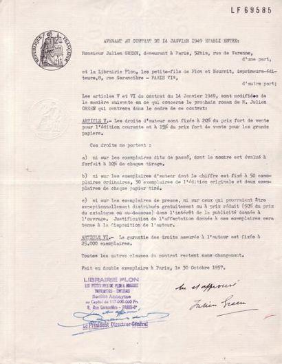 EDITIONS DES OEUVRES DE JULIEN GREEN, Documents...