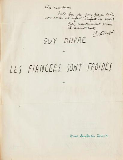 DUPRÉ Guy (né en 1928)